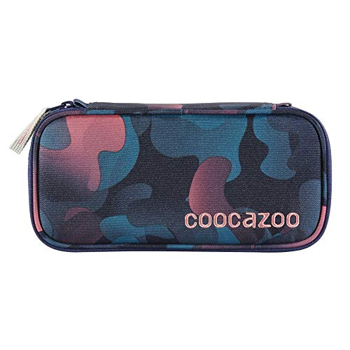 """coocazoo Federmäppchen PencilDenzel """"Cloudy Peach"""" rosa, Schlamperetui, Geodreieckfach, Stundenplanfach, herausnehmbarer Stiftehalter, zusätzliches Reißverschlussfach"""