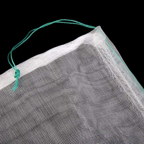 UEETEK メッシュ 袋 濾過ネット 穀物 収納ネット 10枚入り 25 × 35cm 水槽 アクアリウム フィルターネット 多用途 ランダム色