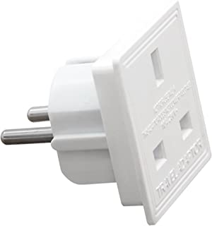 INNOTECK DS-2160 110/230V AC UK to European Round 2 Pin Travel Power Adapter