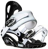 Chamonix Macon Snowboard Bindings Mens Sz M Black/White