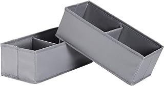 IHOMAGIC Boîtes de Rangement Pliable Paquet de 2 pour Adulte, Bacs de Rangement Mignon Panier de Rangement Stockage Contai...