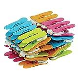 Laguelle – 40 pinzas antideslizantes – Fabricación francesa – Colores variados: verde, azul, naranja y rosa