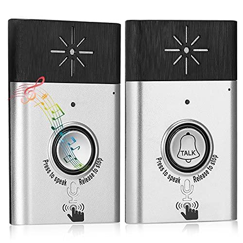 Wireless Voice Intercom Doorbell, 2-Way Intercom Door Bells Chimes, Smart...