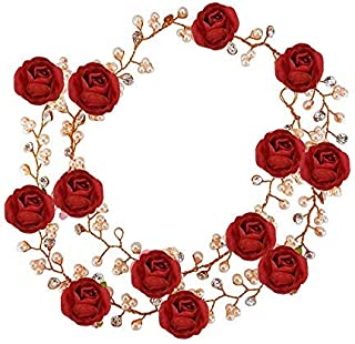 7c6ce48260 Raaya Tiara Gajra And Crown For Girls & Women, Princess Style Floral Hair  Accessories Girls