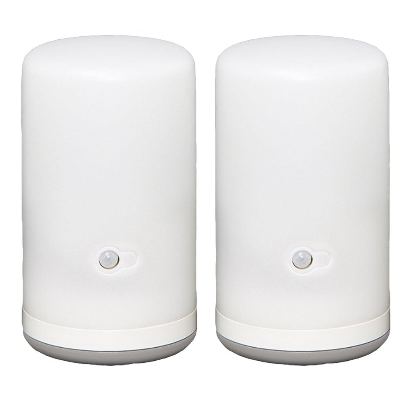 仮定鳴らす送料アイリスオーヤマ センサーライト LED 乾電池式 BSL-10L 2本セット