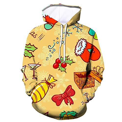 Cinnamou Hiver Femmes Pull à Capuche à Manches Longues Sweatshirts Imprimé Chat Et Oreilles Sweat à Capuche Trendy Hooded MéLange De Coton Mode Chic Tops