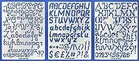 Aleks Melnyk #44 メタルステンシル/スモールレター筆記体 アルファベット 数字 ABC - 1インチ/ステンレススチールステンシルキット 3個/テンプレートツール 木製焼成/パイログラフ/彫刻/クラフト/DIY用