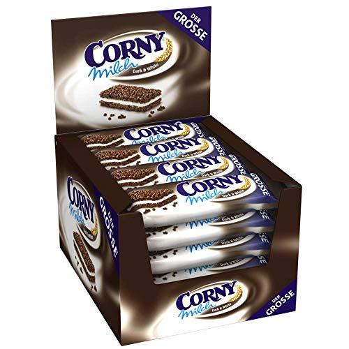 Corny Milch Dark & White DER GROSSE, Milchsandwich, 24er Pack (24 x 40g)