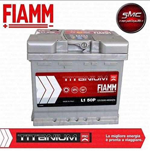 BATTERIA AUTO FIAMM 50Ah 460A POSITIVO A DESTRA (+ DX) COD. L1 50P - 7905143