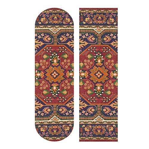 N\A 33.1x9.1inch Sport Outdoor Longboard Griffband Particlar Großes buntes Palace Print Wasserdichtes farbiges Skateboard Griffband für Tanzbrett Double Rocker Board Deck 1 Blatt