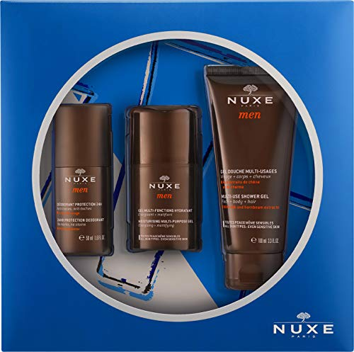 Nuxe men gel hidratacion 50ml+ desodorante 50ml + gel ducha 100ml