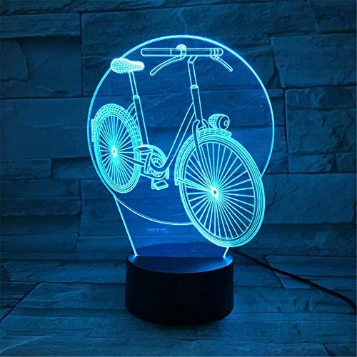 Nachtlampje fiets kinderen nachtlampje 3D optische illusie 7 kleuren veranderende verlichting verjaardag Kerstmis verbazingwekkende cadeaus voor baby kinderen meisjes