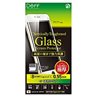 Deff iPhone 6 6s Plus 対応 液晶 保護 ガラス フィルム プレート Dragontrail X 0.55mm クリア/Chemically Toughend Glass Screen Protector/DG-IP6SG5F / DG-IP6PSG5F (iPhone 6 Plus / 6s Plus, ホワイト(白))
