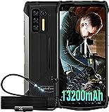 13200mAh Smartphone Incassable 4G. Télémétrie Infrarouge,8Go+256Go,Ulefone Power Armor 13 & Endoscope IP67, Écran 6.81 Pouces FHD+ Android 11 48M, OTG/NFC/Face ID Chargeur sans Fil 15W