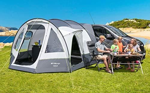 Berger Busvorzelt Traveller Deluxe Camping Vorzelt Zelt WS3000mm Tunnelzelt Familienzelt Moskitogaze
