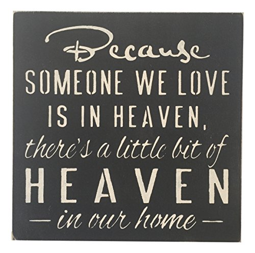 Sara's Signs Hand Painted Sign Beacuse Someone We Love is in Heaven, 12' L x 12' W