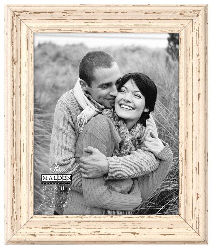 Malden International Designs Classic Mouldings Off White Distressed Picture Frame, 8x10, Off White
