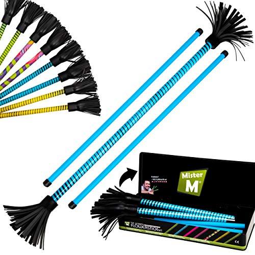 "Mister M  Il Set Completo Flowerstick"" / Testato CE - Flowerstick + Bastoncini + Video Online + Pacco Regalo (Blu)"