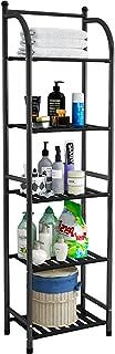Etagère de rangement pour la cuisine et la salle de bain,espace ouverte pour rangement(noir, 142cm*34cm*29cm)