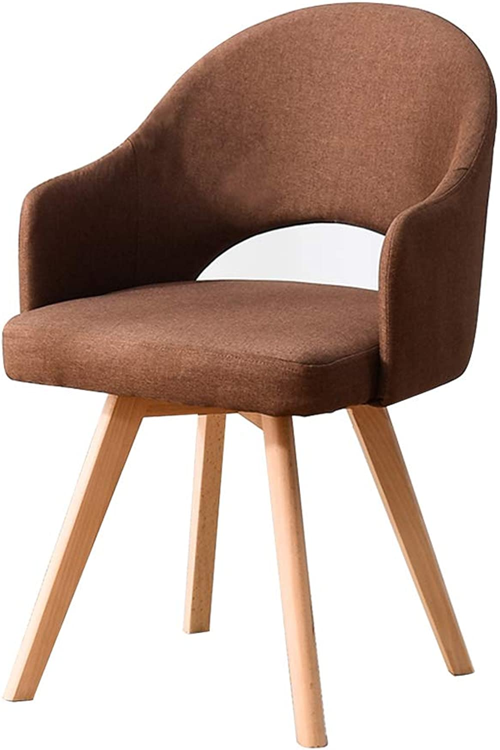 Chair Solid Wood Stool Restaurant backrest Dining Chair Learning Simple Desk Chair Leisure Home Dining Chair Dining Room Furniture (color   Brown, Size   48  46  78CM)