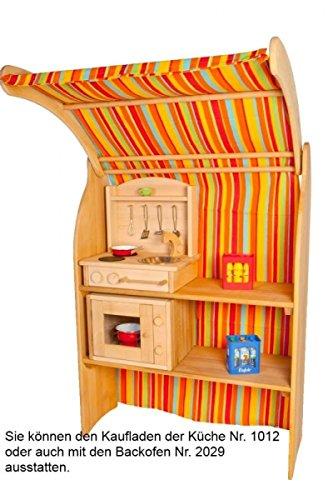 Kinderherd Zwerg 2012G Massivholz - Kinder-Tischküche - Spielständer-Küche … - 2
