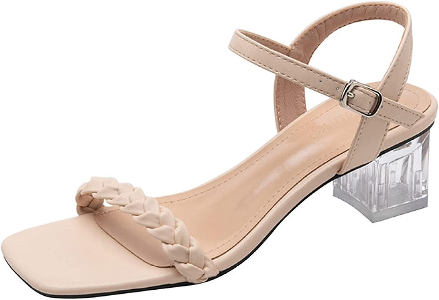 Crystal Super Special Oakland Mall SALE held Heels Sandals for Women Weaves Band Business Fashion Pee