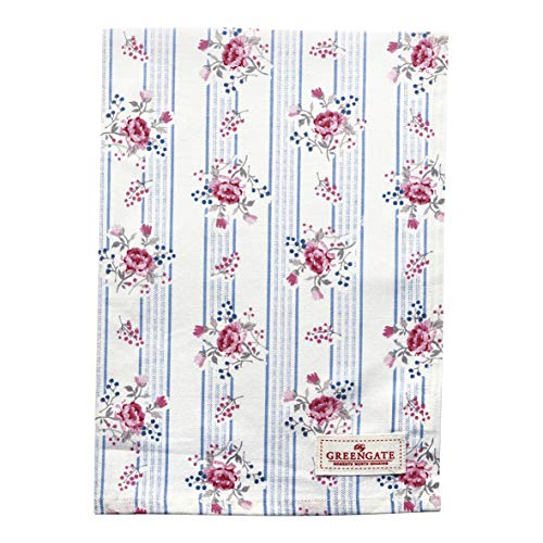 GreenGate Tea Towel Fiona Pale Blue