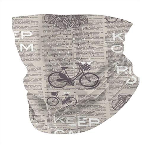 Pañuelo para cuello de bicicleta con diseño de diccionario, transpirable, pasamontañas, antiviento, antipolvo, para hombres y mujeres