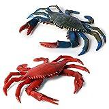 DOYIFun Realistic Crab Marine Animal Model Toys, 2 Pcs Simulated Sea Life Animals Figurine Collection Sea Creature Science Educational Props Toys