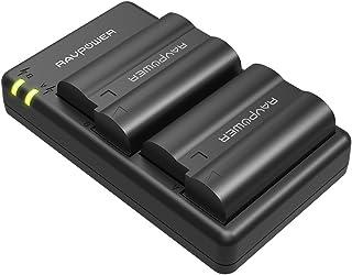 EN-EL15 EN EL15a RAVPower Battery Charger Set Compatible with Nikon d750, d7200, d7500, d850, d610, d500, MH-25a, d7200, z6, d810 Batteries (2-Pack, Micro USB Port, 2040mAh)