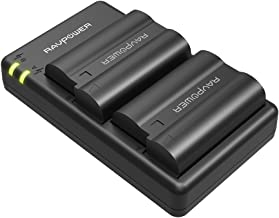EN-EL15 EN EL15a RAVPower Battery Charger Set Compatible with Nikon d750, d7200, d7500, d850, d610, d500, MH-25a, d7200, z6, d810 Batteries (2-Pack, Micro USB Port, 2040mAh)