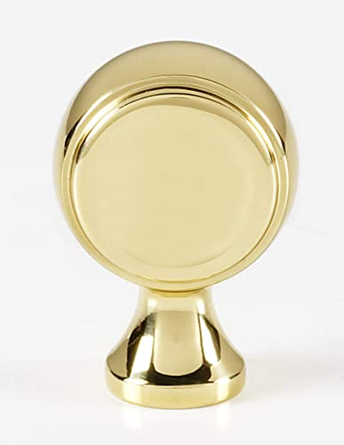 "Alno Royale, 7/8"" Knob, UNLACQUERED Brass"