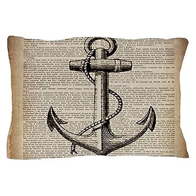 """CafePress - Nautical Vintage Anchor - Standard Size Pillow Case, 20""""x30"""" Pillow Cover, Unique Pillow Slip"""