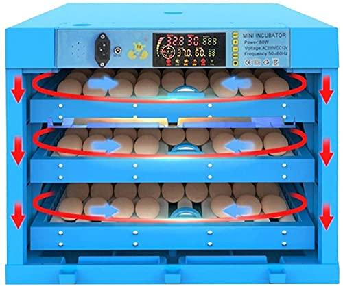 Digitale Eierincubator Met Automatisch Draaien Van Eieren En Temperatuur Led-Kaars Voor Het Uitkomen Van Kip, Eend, Gans, Kwartelvogels, Kalkoen, Thuisgebruik, Voor 192 Eieren, Blauw