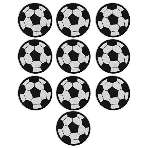 10 parches de bordado para pelota de fútbol, para planchar o coser o hacer deportes de fútbol, ropa para calcetines, bolsas de regalo de arte y pantalones