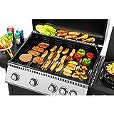 Arte Living GmbH EL Fuego Barbecue à gaz Kansas 4+1, AY 567, 4 brûleurs + 1 brûleur latéral, 123 x 102 x 54 cm