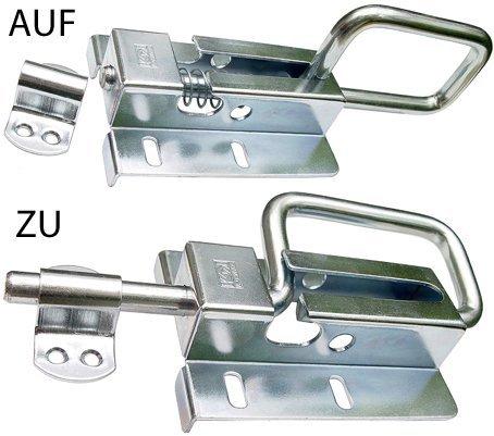 Torriegel Türriegel Bolzenriegel Schubriegel Sektionaltor 120/12 Silber Verzinkt
