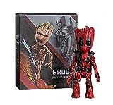 YXCC Estatua de Guardianes de la Galaxia Groot Xiaoshuren COS Deadpool Figura articulada en Caja móvil