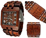 Men's Wood Watch- Wooden wrist Watches for men - Wood Custom Watch - Wood craft - Wood art - Wood Watch Engraving - Personalized Wooden Watch- Omega I rosewood watch