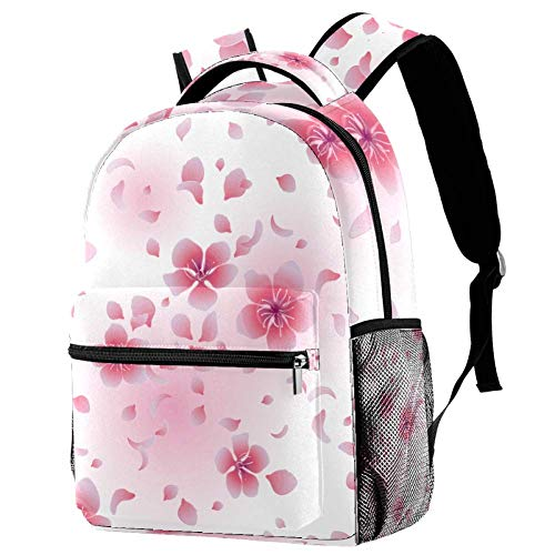 Cherry Blossoms Flowers Personalised School Bag for Boys and Girls - Kids School Backpack - Childrens rucksacks for Boys and Girls