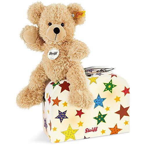 Steiff Fynn Teddybär im Koffer - 23 cm - Kuscheltier für Kinder - weich & waschbar - beige (111730)