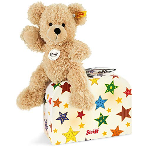 Steiff Fynn Teddy Bear in Suitcase (Beige)