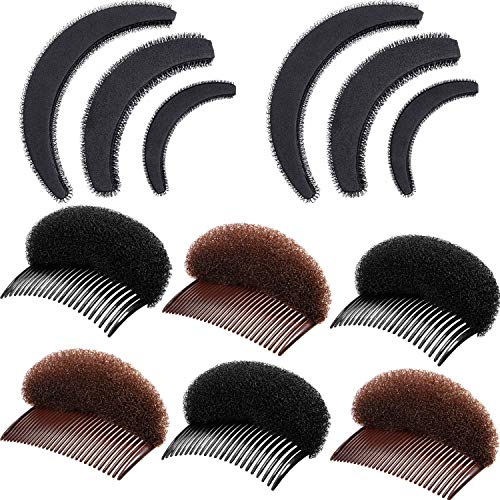 10 Stück Raufgehen Haar Set Styling Insert Flechtwerkzeug Bump It Up Volumen Haarkamm Haar Schwamm Kamm Zubehör für Frauen Mädchen Haarschmuck