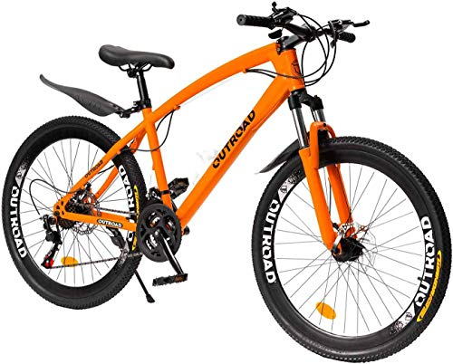 Magic-Show-Day Mountain Bike 26 inch for Men Women Road Bicycles with High Carbon Steel Framen Double Disc Brake Front Suspension Anti-Slip Bikes