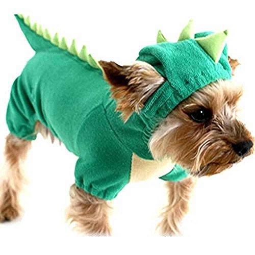 SAMGU Cucciolo Vestiti e Giacca Tuta-Pigiama Abbigliamento Maglione con Cappuccio per Cani e Animali Domestici Color Verde Size Medium
