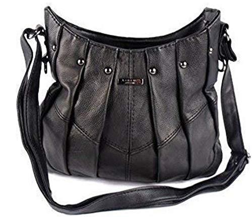 The Leather Emporium , Cabas pour femme Noir Noir