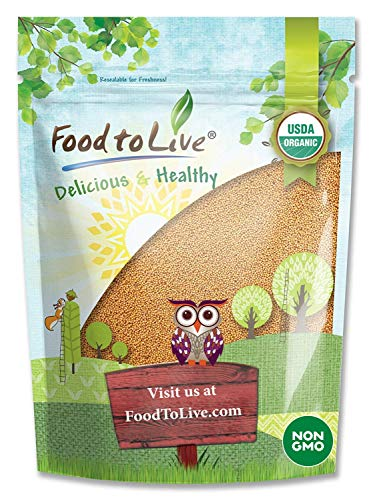 Organic Mustard Seeds, 3 Pounds - Whole Yellow Seeds, Non-GMO, Kosher, Raw, Dried, Hot Spice, Bulk