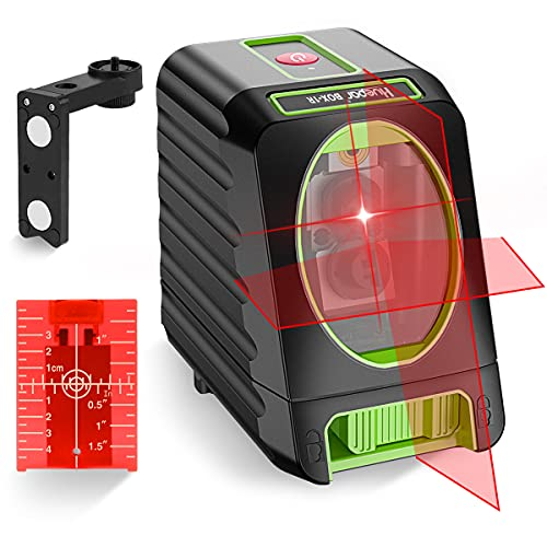 Huepar Self-Leveling Laser Level 150ft Outdoor Cross Line Laser, Selectable Laser Lines with Pulse Mode Level with Vertical Beam Spread Covers of 150°, 360°Magnetic Base and Battery Included-M-BOX-1R