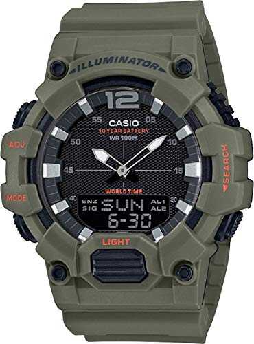 CASIO Herren Analog – Digital Quarz Uhr mit Resin Armband HDC-700-3A2VEF