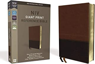 NIV, Reference Bible, Giant Print, Leathersoft, Brown, Red Letter Edition, Thumb Indexed, Comfort Print